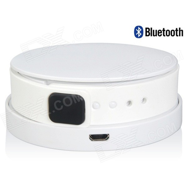 I7 Waterproof Bluetooth V4.0 Smart Wristband Bracelet w/ Activity Tracking / Charger - White