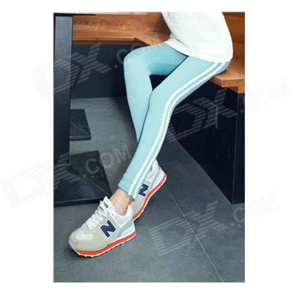EU-88 Casual Plus Thick Velvet Warm Pants - Turquoise Color