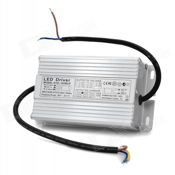 Waterproof 4.5A 150W LED Driver - Silvery White (AC 85~277V) 18w led constant current power supply driver blue beige ac 85 277v