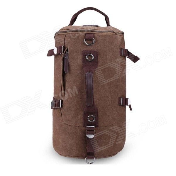 Men's Outdoor Sports Mountaineering Barrel Shaped Canvas Shoulder Bag / Backpack / Handbag - Brown guou brand luxury watch rose gold turntable watch women watches stainless steel wrist watches saat montre femme relogio feminino