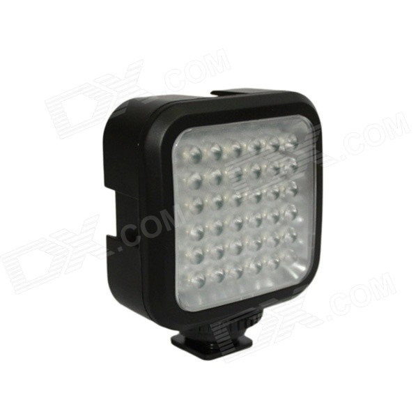 2.6W 180LUX 36-LED Professional Video Light - Black