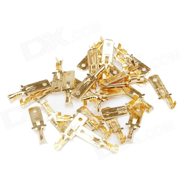 E0074 Speaker Power Amplifier Cable Terminal Lug - Golden (95pcs)