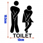 Funny Bathroom Logo Pattern Wall Sticker Toilet WC Paper Sticker Decal - Black