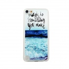 Ultrathin Sea Wave Pattern Protective PC Back Case for IPOD TOUCH 5 - White + Blue