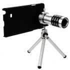 12x Zoom Lens w/ Tripod Mount + Back Case for Samsung Galaxy Note 4 - Silver