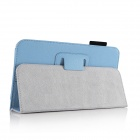 "Protective PU Leather Flip Case Cover w/ Stand for Amazon Kindle Fire HD 6"" - Sky Blue"