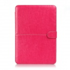 "Funda protectora de cuero PU Flip Open para Macbook Pro 13.3 ""Laptop - Rojo"