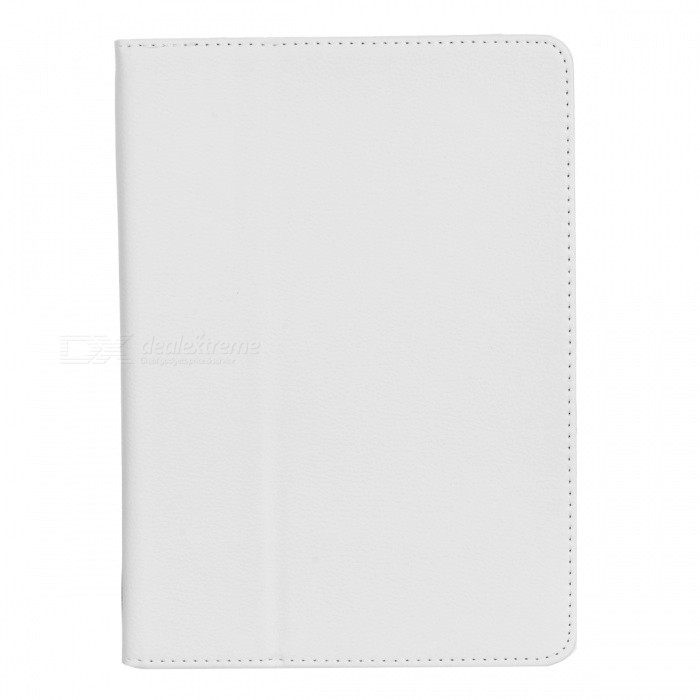 Protective PU Leather Flip Open Case w/ Auto Sleep / Stand for IPAD AIR 2 - White