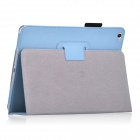 Protective PU Leather Flip Open Case w/ Auto Sleep / Stand for IPAD AIR 2 - Sky Blue