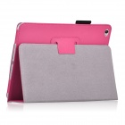 Protective PU Leather Flip Open Case w/ Auto Sleep / Stand for IPAD AIR 2 - Deep Pink