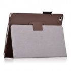 Protective PU Leather Flip Open Case w/ Auto Sleep / Stand for IPAD AIR 2 - Brown
