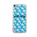 Ultra-thin Sky + Clouds Pattern Protective PC Back Case for IPOD TOUCH 5 - White + Blue