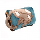 FA-70 Cartoon-Katze Gemusterte Tragbare Abnehmbare Hot Water Bag - Khaki + Blau