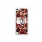 Retro Roses Pattern Protective PC Back Case for IPOD TOUCH 5 - White + Red + Multicolored