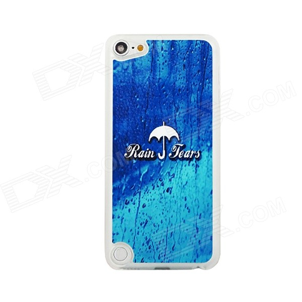 Ultra-thin Umbrella + Rain Pattern Protective PC Back Case for IPOD TOUCH 5 - Blue + Multicolored for ipod touch 6 5 black friday series hard pc cover shell style h