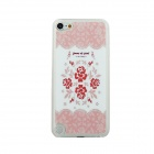 Ultra-thin Rose Pattern Protective PC Back Case for IPOD TOUCH 5 - White + Pink + Multicolored