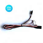 26AWG JR Male to JR Female Servo Extension Leads Wires Cables - Black + Red + White (920mm / 30 PCS)