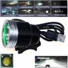 ZHISHUNJIA ZSJ-5VT6 780lm 3-Mode LED White Light 5V Mobile Power USB Bike Headlamp - Black + Silver