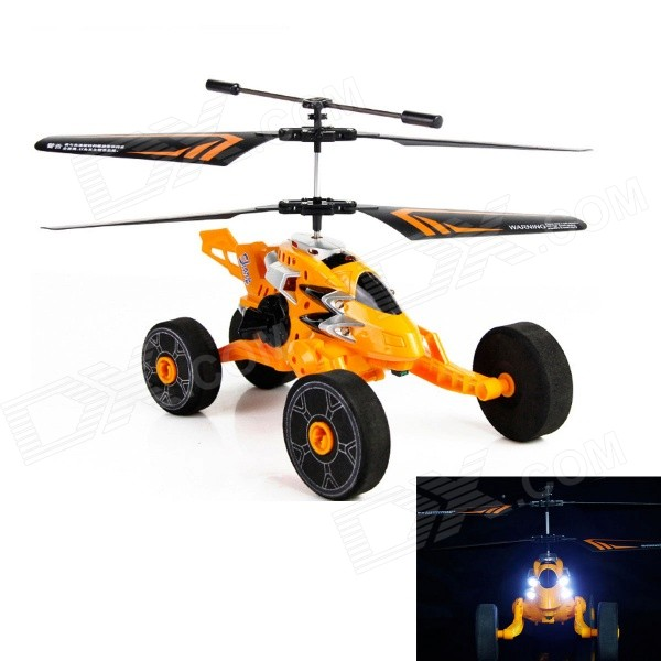 HUAJUN HJ803 New 2.5-CH Flight / Taxiing Mode Remote Control Helicopter w/ Gyro - Yellow + Black xinlin shiye x123 3 5 ch r c infrared control helicopter black yellow