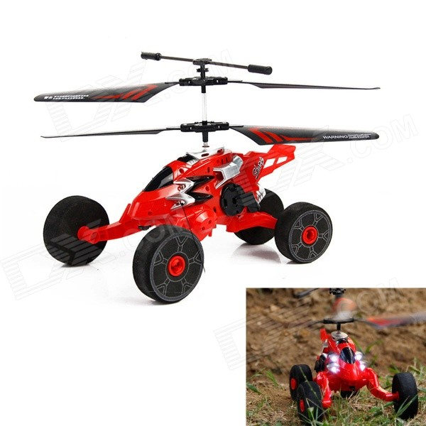 HUAJUN HJ803 New 2.5-CH Flight / Taxiing Mode Remote Control Helicopter w/ Gyro - Red + Black