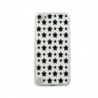 Ultra-thin Stars Pattern Protective PC Back Case for IPOD TOUCH 5 - White + Black