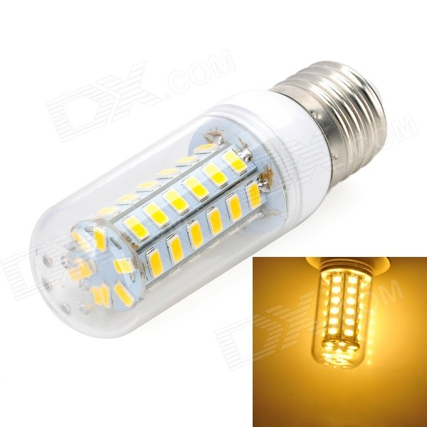 Marsing E27 9W 700lm 3000K 48 x SMD 5730 LED Warm White Light Lamp (AC 220~240V) lexing lx r7s 2 5w 410lm 7000k 12 5730 smd white light project lamp beige silver ac 85 265v