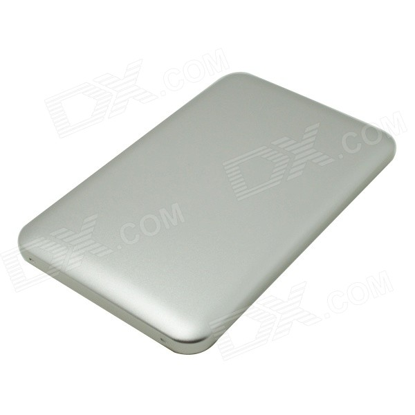6000mAh Li-polymer Dual USB Power Bank w/ Indicator for IPHONE / IPAD / Samsung + More - Silver