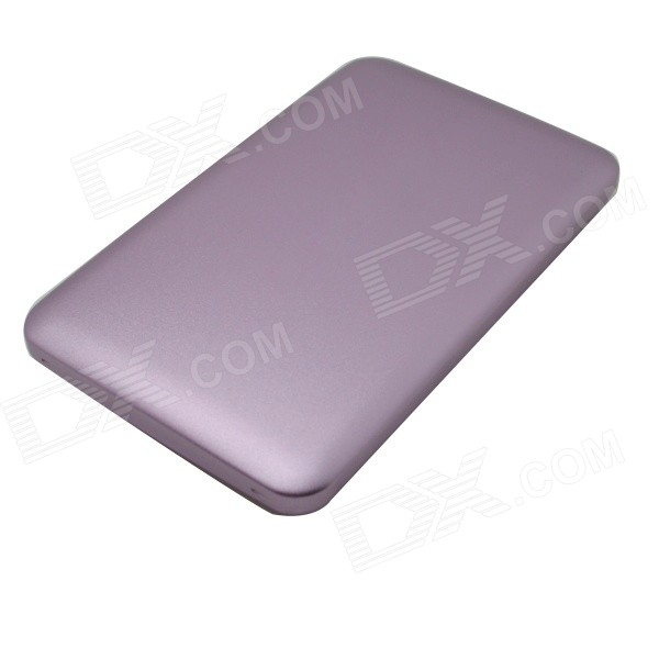 6000mAh Li-polymer Dual USB Power Bank w/ Indicator for IPHONE / IPAD / Samsung + More - Purple