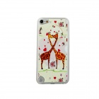 Kissing Giraffes Pattern Protective PC Back Case for IPOD TOUCH 5 - Orange + Red + Multicolor