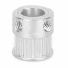 3D Printer Aluminum 8mm 20-Teeth Timing Belt Pulley for MXL - Silvery White