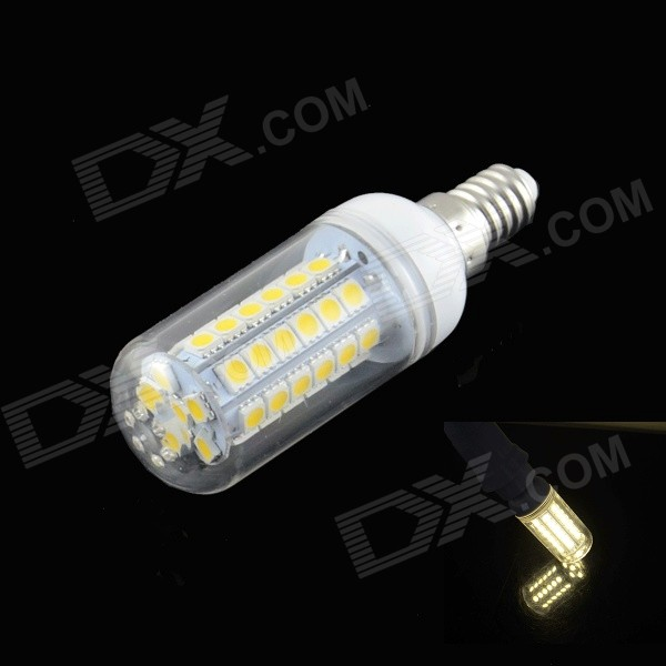 HZLED E14 4W 450LM 3000K 48 x 5050 SMD LED Warm White Light Lamp - White (AC 220~240V)