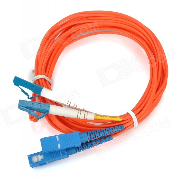 LC to SC 62.5/125um Fiber Optic Cable - Orange (3m) ray tricker optoelectronics and fiber optic technology