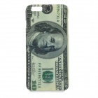US Dollar Paper Money Pattern Protective TPU Back Case Cover for IPHONE 6 PLUS - Beige + Grey