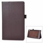 Protective PU Smart Case w/ Stand for Asus MeMOPAD7 / ME572CL - Brown