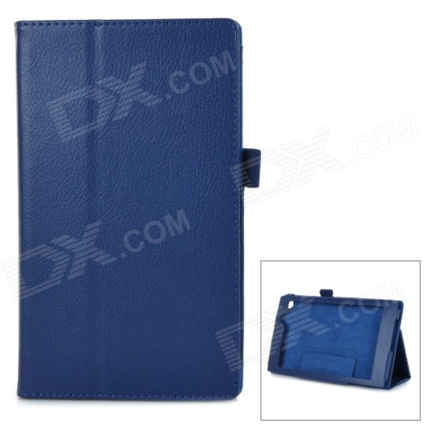 Protective PU Smart Case w/ Stand for Asus MeMOPAD7 / ME572CL - Blue