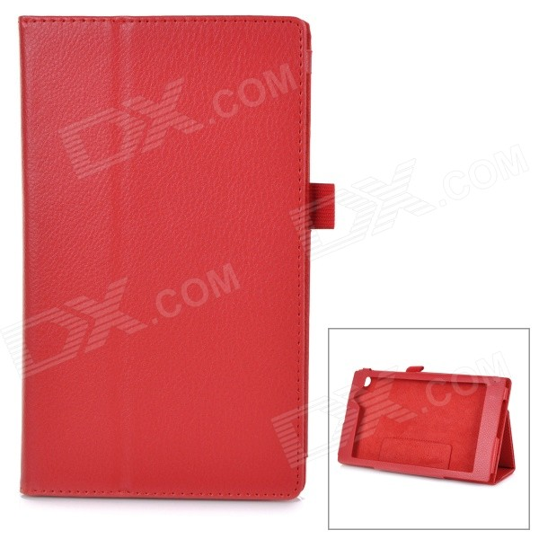 Protective PU Smart Case w/ Stand for Asus MeMOPAD7 / ME572CL - Red
