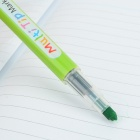 Plast 1 ~ 3mm Multi - Angle Highlighter Pen - Lysegrønn