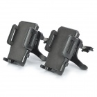 Universal Car Air Conditioner Outlet 360' Rotatable Mount Holder for Cellphone / GPS - Black (2Sets)