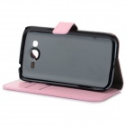 Protective Flip-Open PU Case Cover w/ Stand / Card Slot for Samsung Galaxy Grand Neo / i9060 - Pink