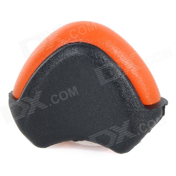 Fish Bone Style Nylon Cord Rope Paracord Lock Stopper Buckle - Orange + Black