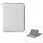 "Plaid Pattern Universal 360 Degree Rotational Zipper Bag for 9"" / 10"" / 11"" Laptop - White"