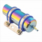 18cm Length Colorful Oil Radiator Cooler w 50cm Long Tube for Motorcycle - Multi-colored