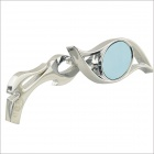 CARKING SF008 DIY Universal Motorcycle Blue Rear View Mirror - Silver (2 PCS)