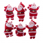Classical Santa Claus Christmas Tree Ornament Decoration Set - Red + White
