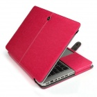 "Protective PU Leather Flip Open Case for Macbook Air 13.3"" Laptop - Red"