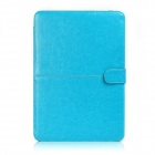 "Protective PU Leather Flip Open Case for Macbook Air 13.3"" Laptop - Blue"
