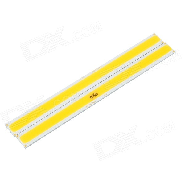 JRLED 10W 800lm 3000K 80-COB LED Warm White Light Modules - White + Yellow (DC 12~14V / 2 PCS)