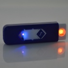 YC02 Windproof USB Cigarette Lighter recarregável w / Money Detector Function - Azul + Branco