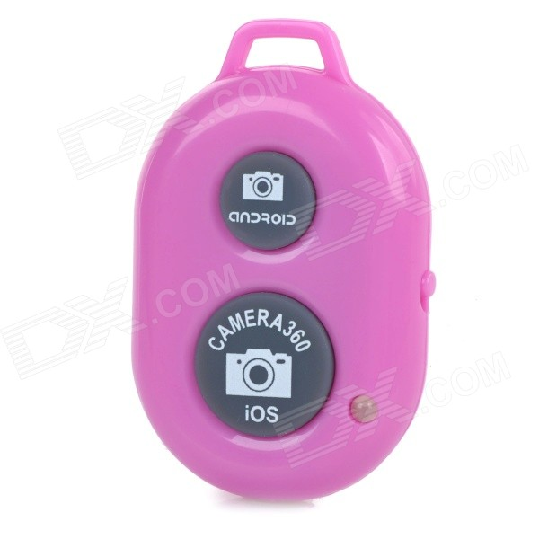 Rechargeable Wireless Bluetooth V3.0 Selfie Remote Shutter - Pink