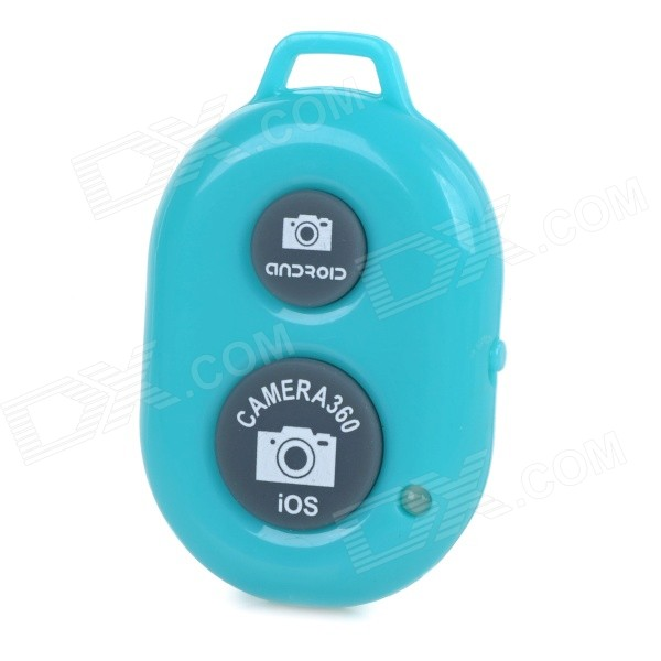 Rechargeable Wireless Bluetooth V3.0 Selfie Remote Shutter - Blue